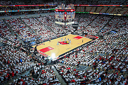 The University of Louisville hosted University of North Carolina, Saturday, Jan. 31, 2015 at KFC YUM Center in the Louisville. Louisville won 78-68.  <br /> <br /> Photo by Jonathan Palmer