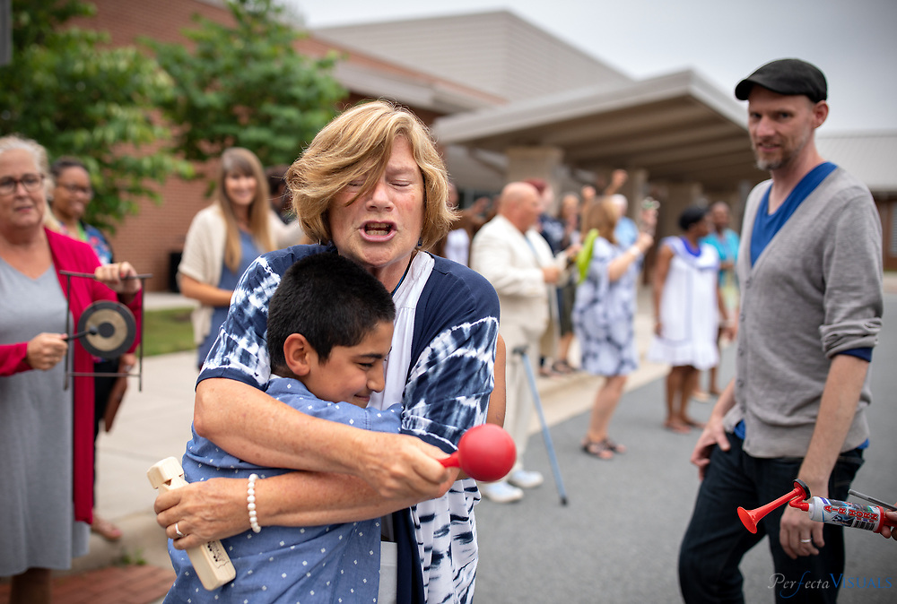 Last day of school at Ronald E. McNair Elementary School.<br /> <br /> <br /> Photographed, Tuesday, June 12, 2018, in Greensboro, N.C. JERRY WOLFORD and SCOTT MUTHERSBAUGH / Perfecta Visuals