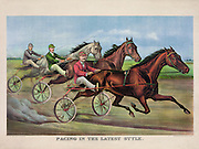 Vintage Illustration: CREATED/PUBLISHED: New York: Published by Currier & Ives, c1892. TITLE: Pacing in the latest style.