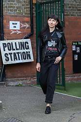 © Licensed to London News Pictures. 23/05/2019. London, UK. A voter leaves a polling station in Haringey, north London after casting a vote in the European Parliament elections. Photo credit: Dinendra Haria/LNP