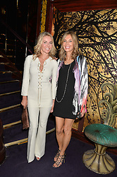 Left to right, CLAIRE-ANNE STROLL and KIM HERSOV at a party to celebrate the launch of the Dee Ocleppo 2015 Pre Fall Collection benefiting the Walkabout Foundation held at Loulou's, 5 Hertford Street, London on 16th June 2015.