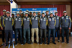 Nordic team during Media day of Ski Association of Slovenia before new winter season 2014/15 on October 20, 2014 in Hisa Kulinarike Jezersek, Sora, Slovenia. (Photo by Matic Klansek Velej / Sportida)