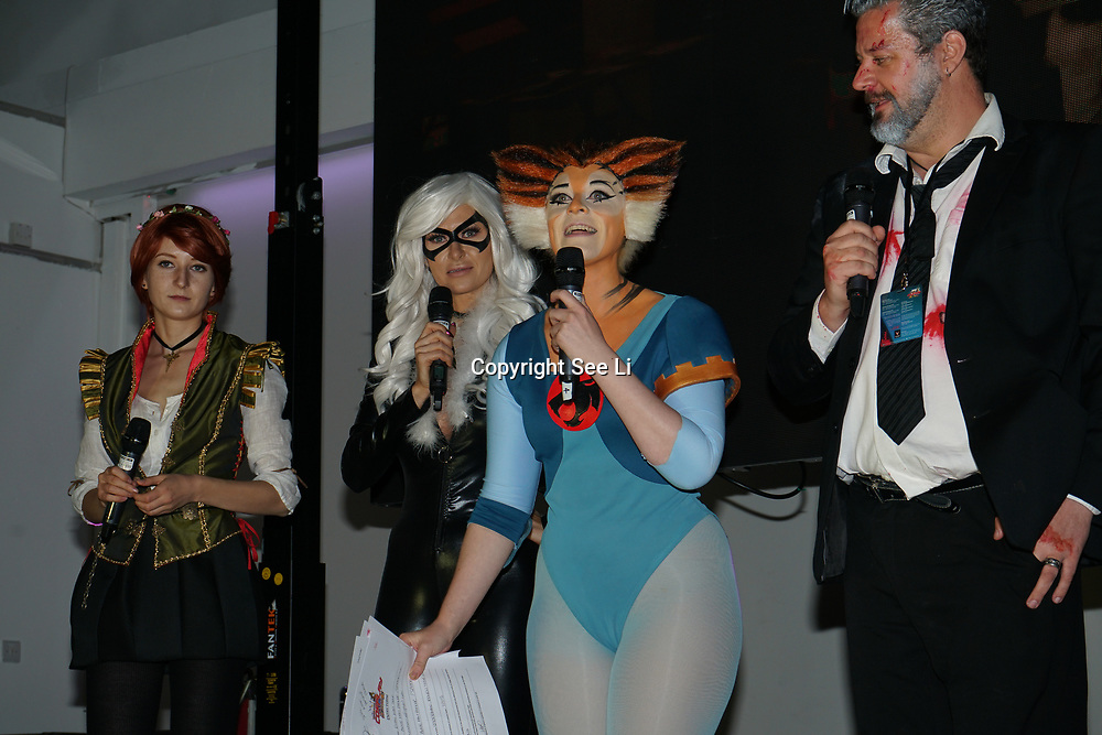 Business Design Centre, London, England, UK. 23rd August 2017. Hosts of youngsters participate in the London Super Cosplay Competition! for all cosplayers attending LSCC 2017!.