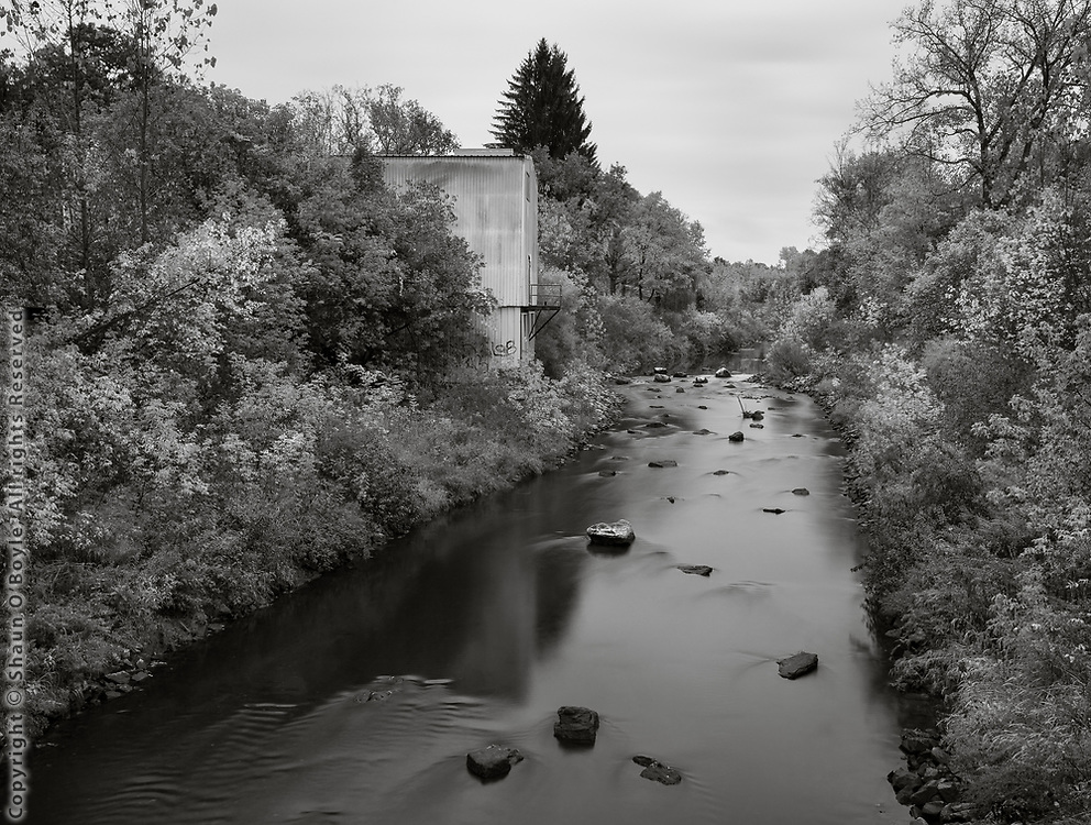 East Branch with Von Sickler Mill Remains, From Dawes Ave Bridge, Pittsfield, MA