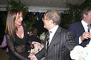 Mrs. Alain-Dominique Perrin and Joseph Ettendui. Cartier party after the preview of the Chelsea Flower show. physic Garden. London 21 May 2001. © Copyright Photograph by Dafydd Jones 66 Stockwell Park Rd. London SW9 0DA Tel 020 7733 0108 www.dafjones.com