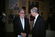 John Hoyland. Royal Academy Annual dinner to celebrate the opening of the Summer exhibition. Royal Academy. Piccadilly. London. 1 June 2005.  ONE TIME USE ONLY - DO NOT ARCHIVE  © Copyright Photograph by Dafydd Jones 66 Stockwell Park Rd. London SW9 0DA Tel 020 7733 0108 www.dafjones.com