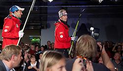 14.10.2011, Shopping City Seiersberg, Graz, AUT, Einkleidung OeSV Team, im Bild Andreas Kofler und Mario Stecher, EXPA Pictures © 2011, PhotoCredit: EXPA/ Erwin Scheriau
