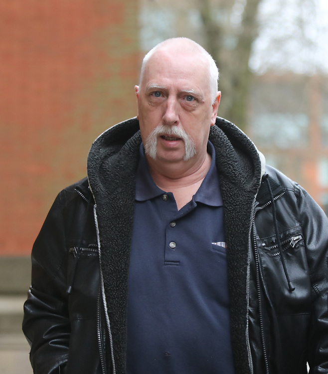 Manchester UK 23.04.2018 Anthony Jones arrives a t Minshull Street To face trial on fraud charges where it  claimed that he  spent pension money of a  dead man ( step dead)<br /> Credit Should Read  UK News Media