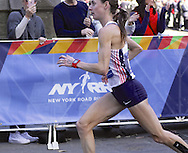 November 6, 2016 - New York, New York, U.S - Two-time U.S. Olympian MOLLY HUDDLE makes her debut in the New York City Marathon.  She finished 3rd in the women's division at a time of 2:28:13. (Credit Image: © Staton Rabin via ZUMA Wire)
