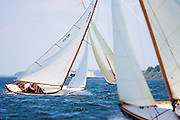Surprise, S Class, sailing in the Museum of Yachting Classic Yacht Regatta, day one.