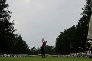 Tiger Woods of the United States hits his tee shot on the 5th hole in the Final round of the U.S. Open Championship at Pinehurst No. 2 in Pinehurst, North Carolina on Sunday, 19  June, 2005