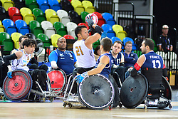 FRA v JPN at the 2015 BT World Wheelchair Rugby Challenge, Copperbox, Olympic Park, London