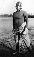 Porterville High School football player in the 1920s in California.
