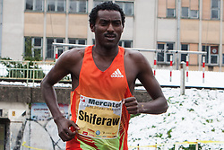 Sciferaw Berhanu of Ethiopia at 17th Ljubljana Marathon 2012 on October 28, 2012 in Ljubljana, Slovenia. (Photo By Matic Klansek Velej / Sportida.com)