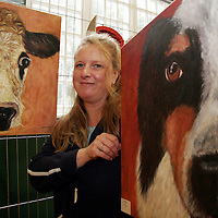 FETAC student Liz Moloney from Doolin with some of her pieces called 'My Animals' which is currently on display in Teach Ceoil in Ennistymon.<br /> <br /> Photograph by Yvonne Vaughan.