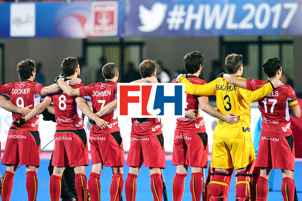 Odisha Men's Hockey World League Final Bhubaneswar 2017<br /> Match id:18<br /> Belgium v Spain<br /> Foto: Line Up<br /> COPYRIGHT WORLDSPORTPICS FRANK UIJLENBROEK