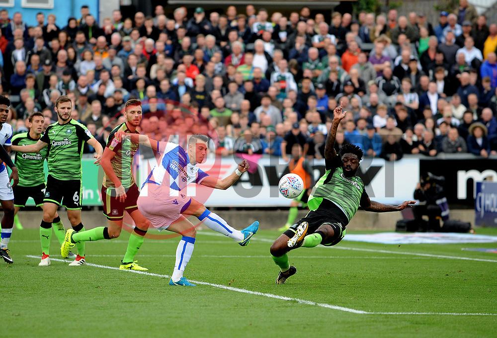 Billy Bodin of Bristol Rovers gets a shot away - Mandatory by-line: Neil Brookman/JMP - 30/09/2017 - FOOTBALL - Memorial Stadium - Bristol, England - Bristol Rovers v Plymouth Argyle - Sky Bet League One