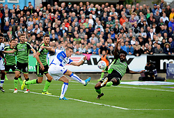 Billy Bodin of Bristol Rovers gets a shot away - Mandatory by-line: Neil Brookman/JMP - 30/09/2017 - FOOTBALL - Memorial Stadium - Bristol, England - Bristol Rovers v Plymouth Argyle - Sky Bet League One