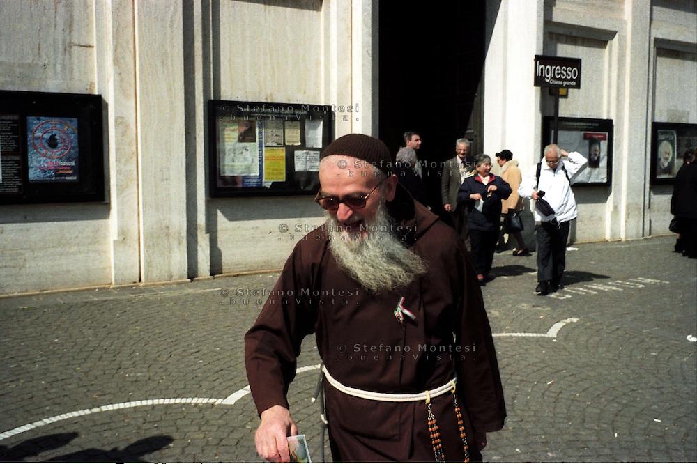 San Giovanni Rotondo.Un padre dell'Ordine dei Cappuccini.San Giovanni Rotondo.A father of the Cappuccini Order