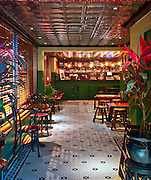 The bar at Jenny Yip's Miss Yip Chinese Café in Miami Beach was modeled after classic Chinese cafeterias in Hong Kong
