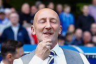 Ian Holloway , Manager of Millwall rubs his chin before the Sky Bet Championship match at The Den, London<br /> Picture by David Horn/Focus Images Ltd +44 7545 970036<br /> 03/05/2014