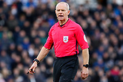 referee Andy Woolmer during the EFL Sky Bet Championship match between Derby County and Hull City at the Pride Park, Derby, England on 18 January 2020.