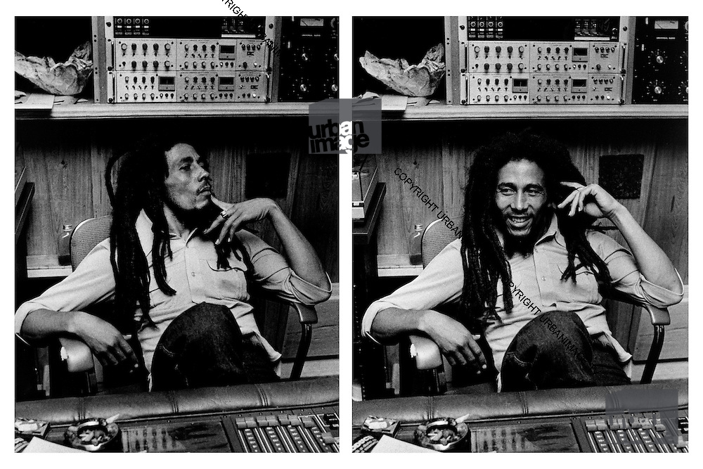Bob Marley in His Tuff Gong studio