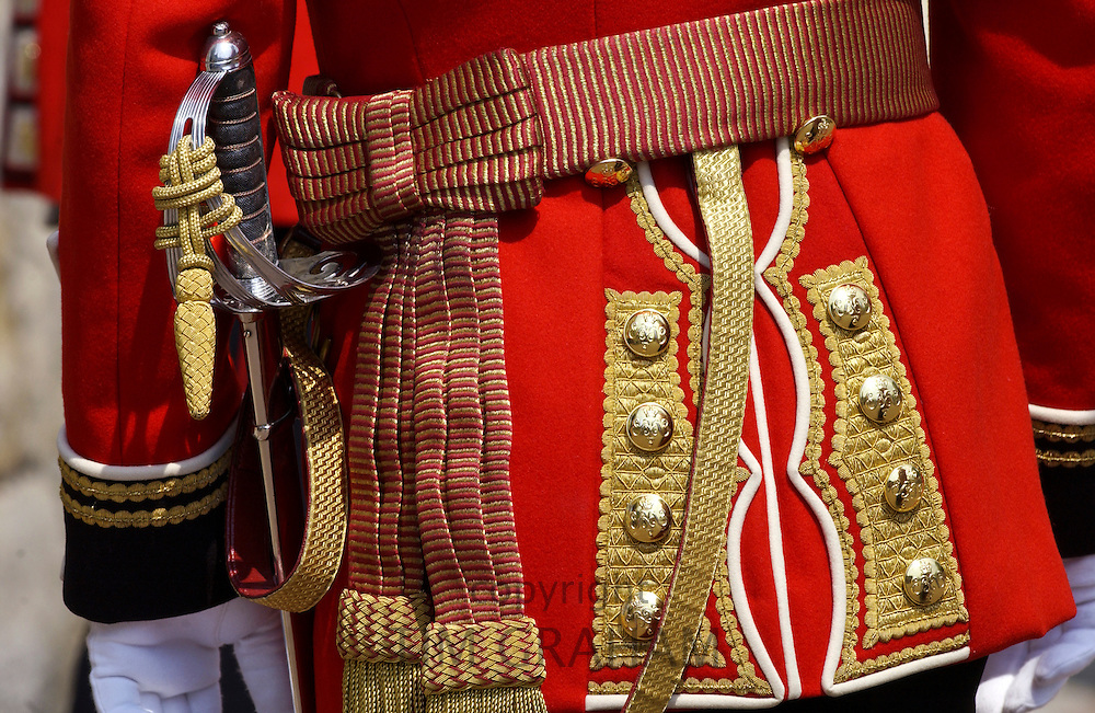 Guardsman from the Irish Guards on parade in England, UK
