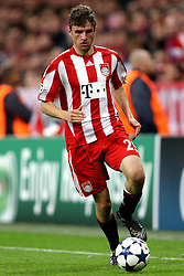 15.09.2010, Allianz Arena, Muenchen, GER, UEFA CL Gruppe E, FC Bayern Muenchen (GER) vs AS Rom (IT), im Bild Thomas Mueller (Bayern #25) ü , EXPA Pictures © 2010, PhotoCredit: EXPA/ nph/  Straubmeier+++++ ATTENTION - OUT OF GER +++++ / SPORTIDA PHOTO AGENCY