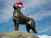 Sheepdog statue, Church of the Good Shepherd, New Zealand