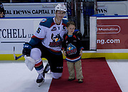 KELOWNA, CANADA - SEPTEMBER 29:  Second Star of the Game Cal Foote #25 of the Kelowna Rockets at the Kelowna Rockets game on September 29, 2017 at Prospera Place in Kelowna, British Columbia, Canada.  (Photo By Cindy Rogers/Nyasa Photography,  *** Local Caption ***