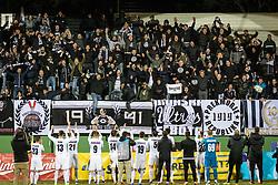Players of NŠ Mura celebrating with fans after football match between NŠ Mura and NK Domžale in 21st Round of Prva liga Telekom Slovenije 2018/19, on March 02, 2019 in Fazanerija, Murska Sobota, Slovenia. Photo by Blaž Weindorfer / Sportida