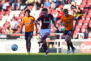 Northampton Town midfielder (on loan from Swansea) Matt Grimes (29) looks to release the ball  during the EFL Sky Bet League 1 match between Northampton Town and Oldham Athletic at Sixfields Stadium, Northampton, England on 5 May 2018. Picture by Dennis Goodwin.