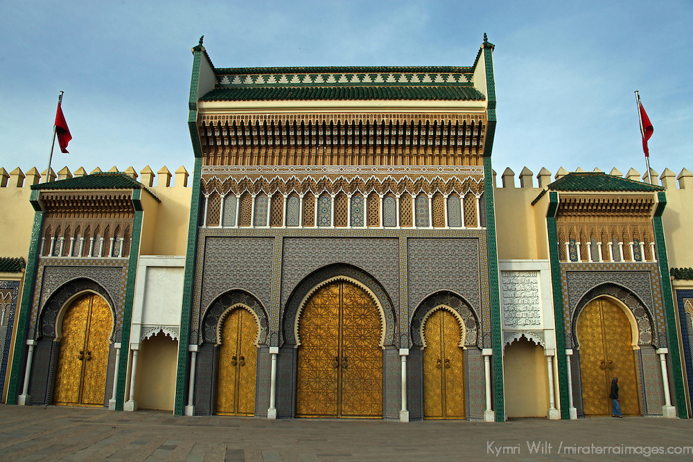 Africa, Morocco, Fes. Royal Palace of Fes.