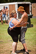 A couple dance during the annual Summer Redneck Games Dublin, GA.