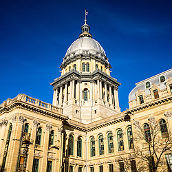 Picture of Illinois State Capitol Building in Springfield, Illinois. The Illinois State Capitol was completed in the late 1800's and is French Renaissance style.