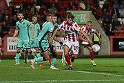 George Lloyd  during the EFL Sky Bet League 2 match between Cheltenham Town and Carlisle United at Jonny Rocks Stadium, Cheltenham, England on 20 August 2019.