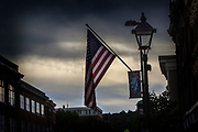 Backlite American flag in Montpelier Vermont - July 3rd Parade 2012.