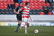 Doncaster Rovers forward John Marquis (9)  during the EFL Sky Bet League 2 match between Doncaster Rovers and Colchester United at the Keepmoat Stadium, Doncaster, England on 15 October 2016. Photo by Simon Davies.