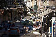 Street scene in Kerkyra, Corfu Town, Greece