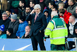 Stoke City Manager, Mark Hughes reacts after his side go out of the FA Cup -  Photo mandatory by-line: Matt McNulty/JMP - Mobile: 07966 386802 - 14/02/2015 - SPORT - Football - Blackburn - Ewood Park - Blackburn Rovers v Stoke City - FA Cup - Fifth Round