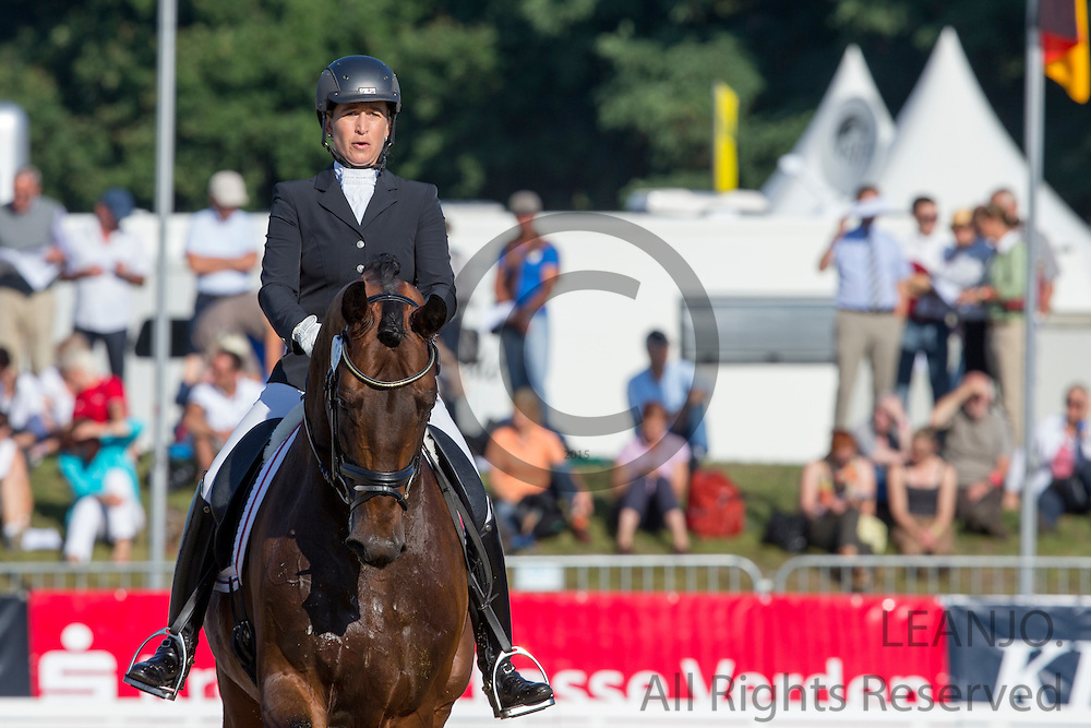 Jennifer Hoffmann - Florentinus V<br /> FEI World Breeding Dressage Championships for Young Horses 2012<br /> © DigiShots