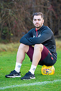 Benjamin Garuccio (#17) of Heart of Midlothian during the press conference ahead of the visit of Rangers in the Scottish Premiership on 1st December 2018, at Oriam Sports Performance Centre, Riccarton, Scotland on 30 November 2018.