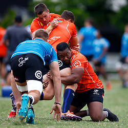 Mzamo Majola of the Cell C Sharks during The Cell C Sharks training session at Jonsson Kings Park Stadium in Durban, South Africa. 21 May 2019 (Mandatory Byline Steve Haag)