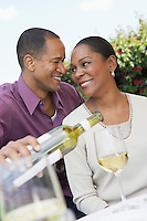 Couple Enjoying a Glass of Wine