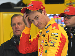 February 23, 2019 - Hampton, GA, U.S. - HAMPTON, GA - FEBRUARY 23: Joey Logano, Team Penske, Ford Mustang Shell Pennzoil (22) during practice for the Monster Energy Cup Series QuikTrip Folds of Honor 500 on February 23, 2019, at Atlanta Motor Speedway in Hampton, GA.(Photo by Jeffrey Vest/Icon Sportswire) (Credit Image: © Jeffrey Vest/Icon SMI via ZUMA Press)
