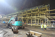 The new stand taking shape at Aston Gate during the Sky Bet Championship match between Bristol City and Wolverhampton Wanderers at Ashton Gate, Bristol, England on 3 November 2015. Photo by Shane Healey.
