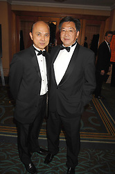 Left to right, JIMMY CHOO and PETER CHOW at the Eastern Eye Asian Business Awards 2007 in the presence of HRH The Duke of York at the Hilton Park Lane, London on 8th May 2007.<br />