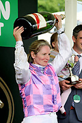 ARCTIC FOX (12) ridden by Carol Bartley and trained by Richard Fahey wins The Queen Mothers Cup over 1m 4f (£20,000) and the jockey wins her weight in champagne during the MacMillan Charity Raceday held at York Racecourse, York, United Kingdom on 15 June 2019.