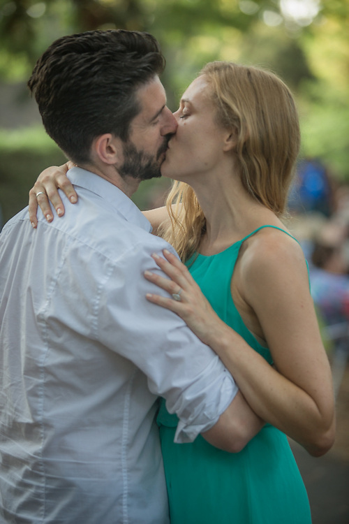 Chelsea Sheridan with her soon to be husband, Sean, at the Calistoga Concert in the Park.